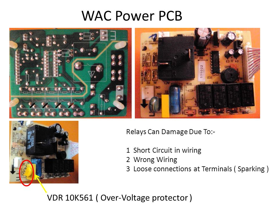 WAC Power PCB VDR 10K561 ( Over-Voltage protector )
