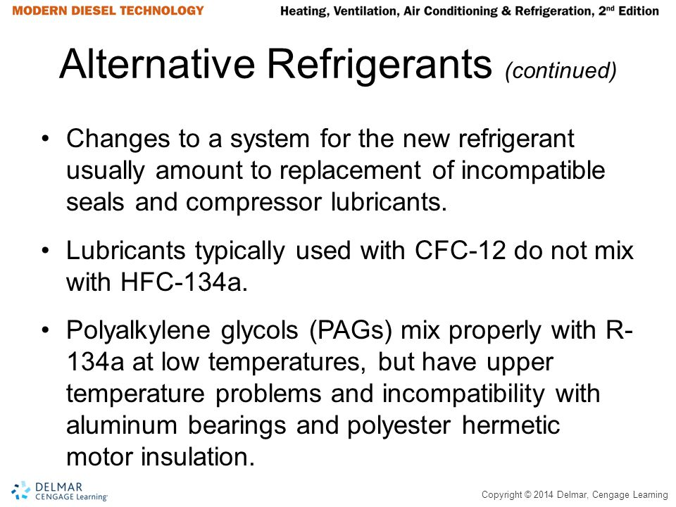 Alternative Refrigerants (continued)