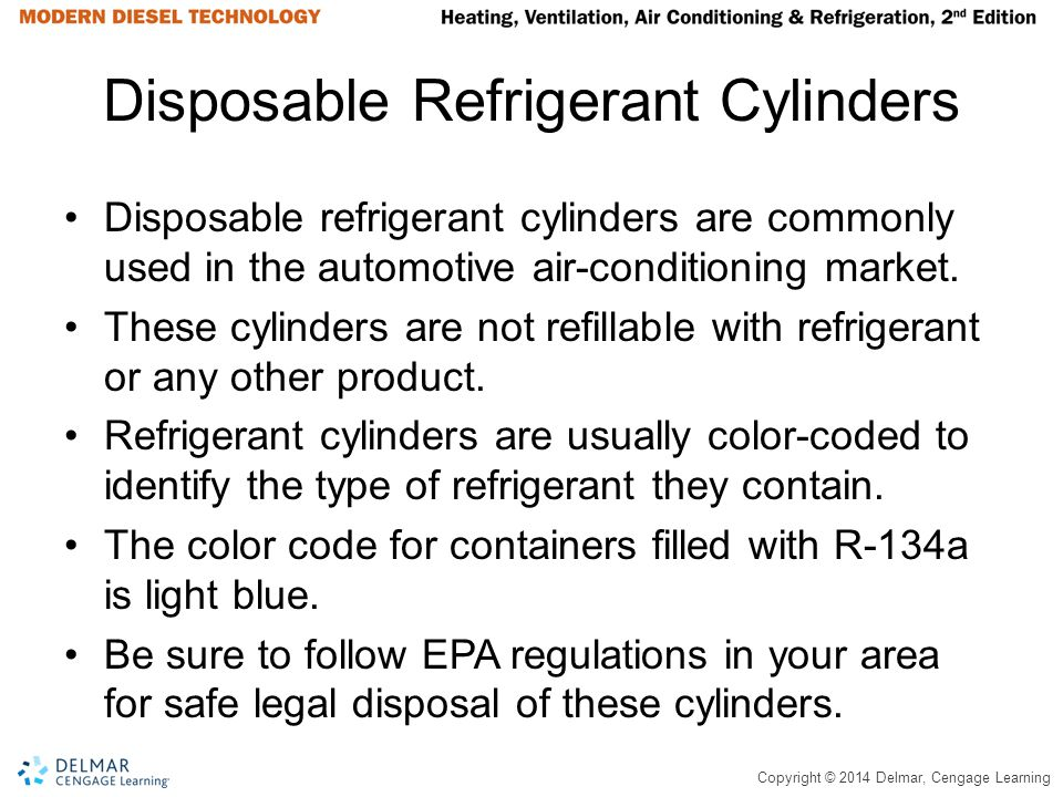 Disposable Refrigerant Cylinders