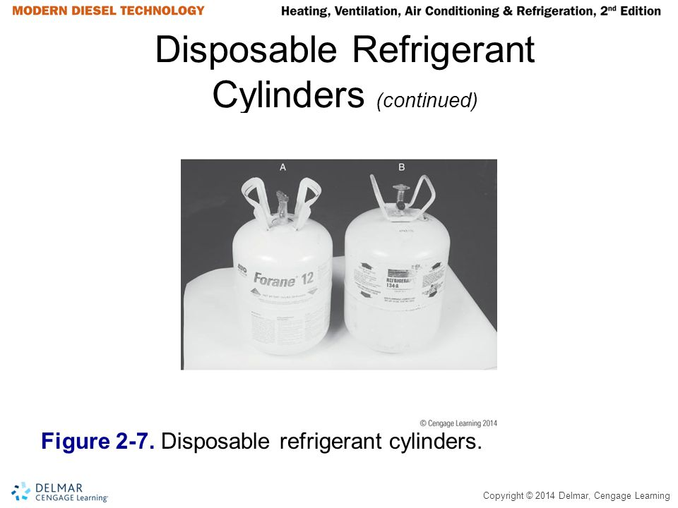 Disposable Refrigerant Cylinders (continued)