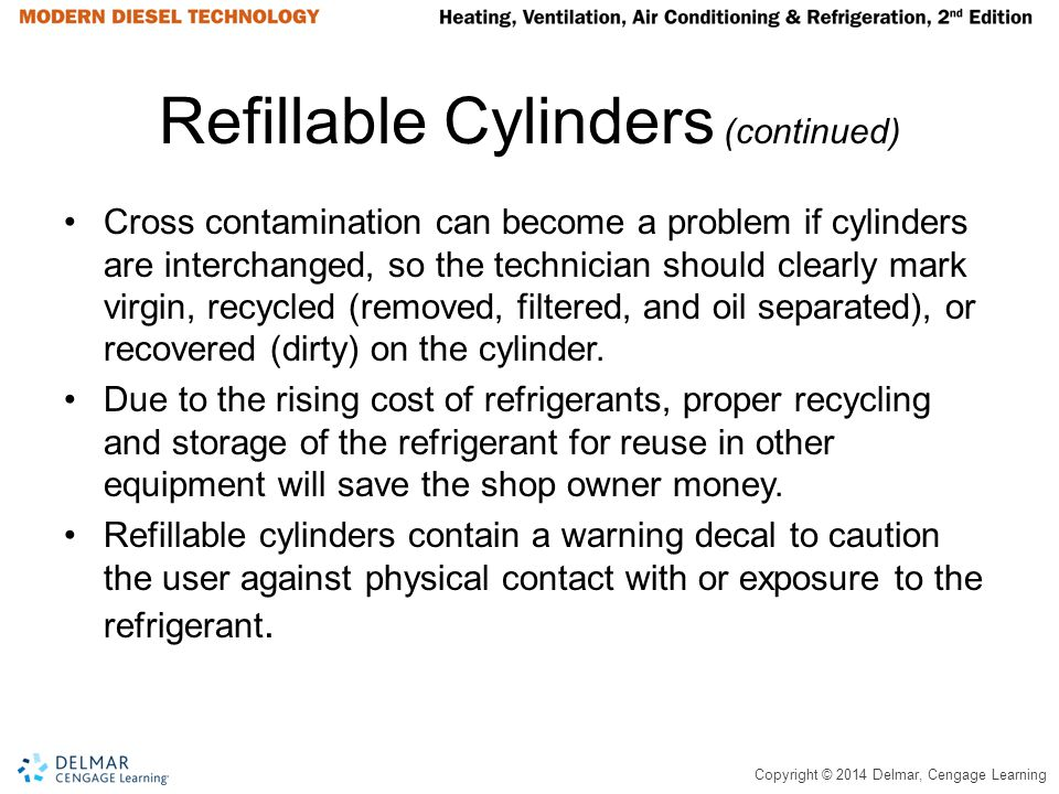 Refillable Cylinders (continued)