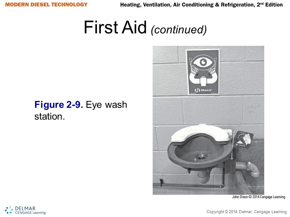 First Aid (continued) Figure 2-9. Eye wash station.
