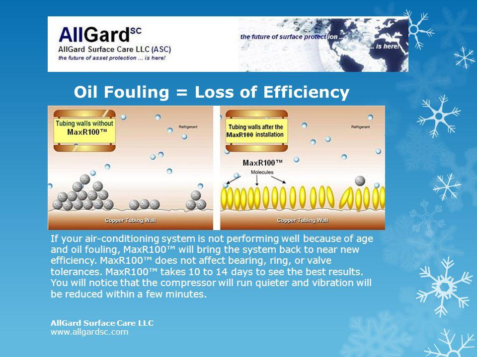 Oil Fouling = Loss of Efficiency