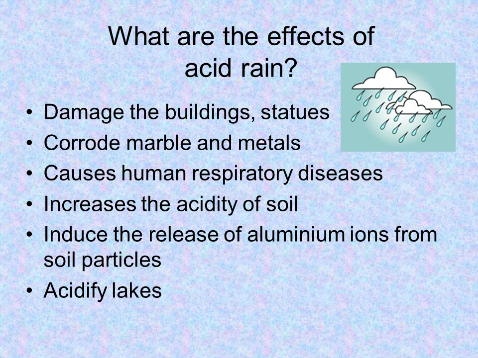 What are the effects of acid rain