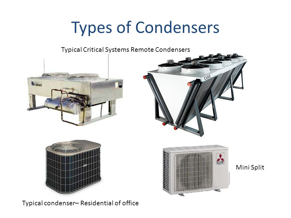 Types of Condensers Typical Critical Systems Remote Condensers