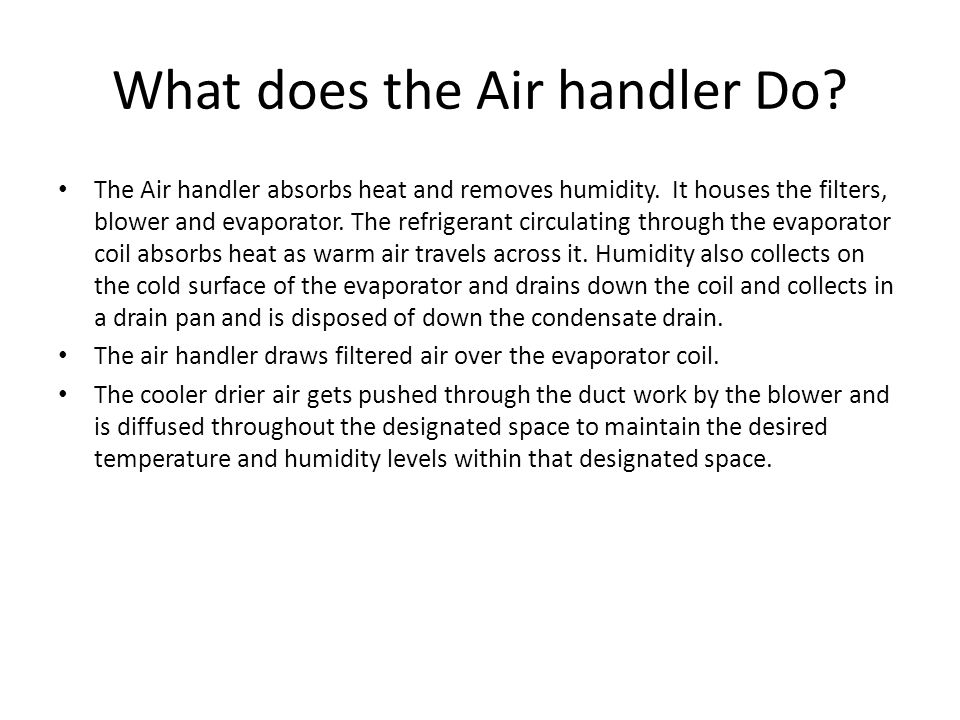 What does the Air handler Do