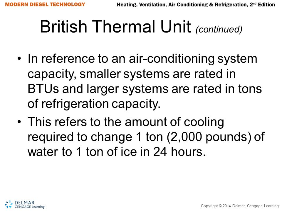 British Thermal Unit (continued)