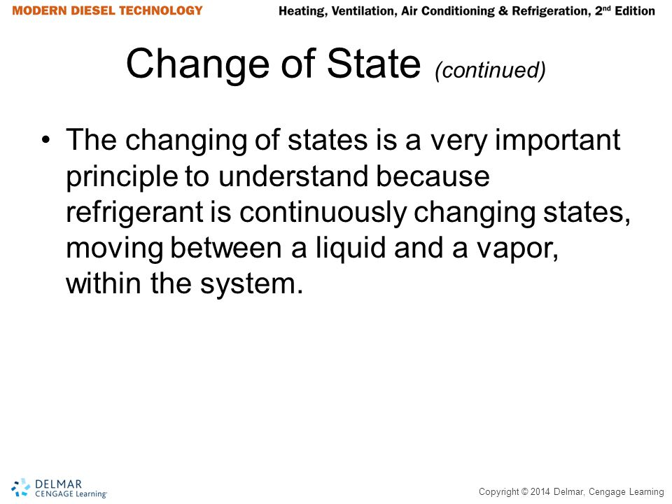 Change of State (continued)