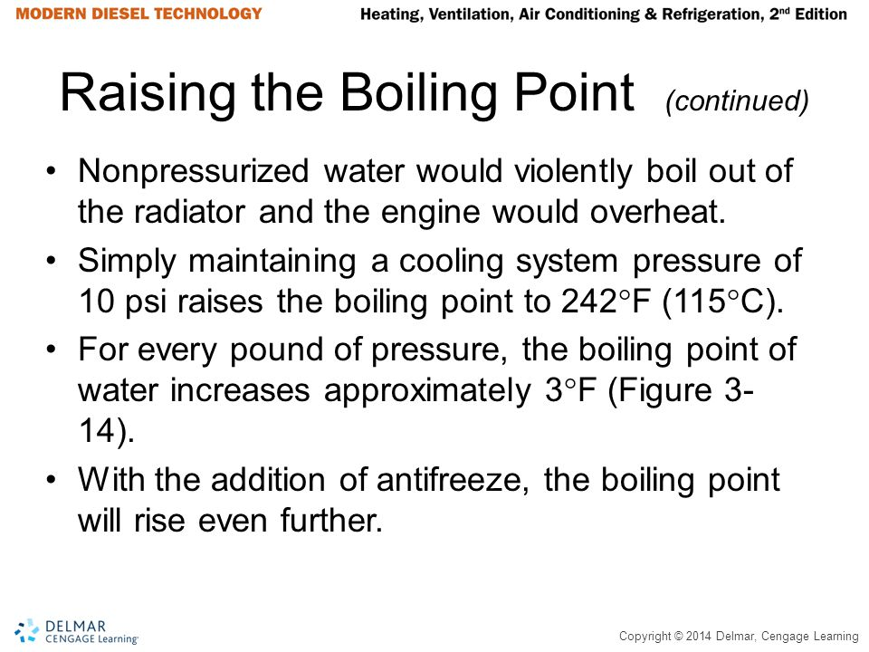 Raising the Boiling Point (continued)