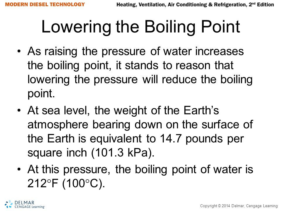 Lowering the Boiling Point