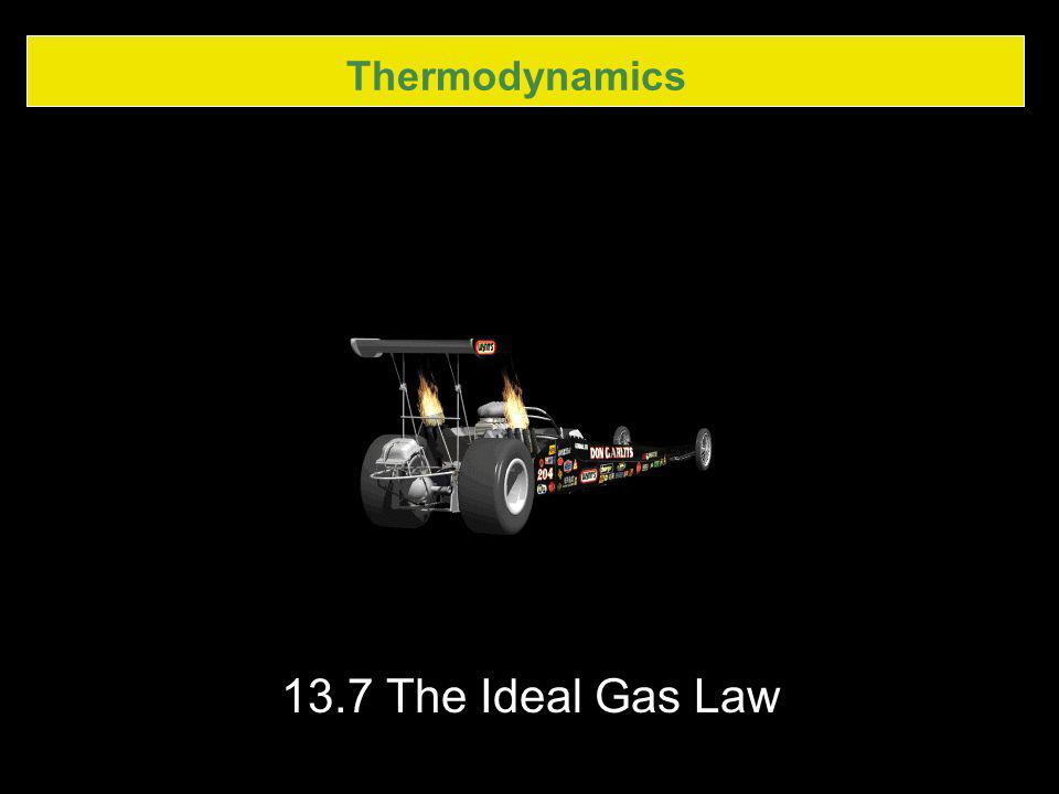 Thermodynamics 13.7 The Ideal Gas Law