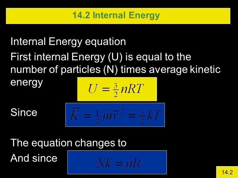 Internal Energy equation