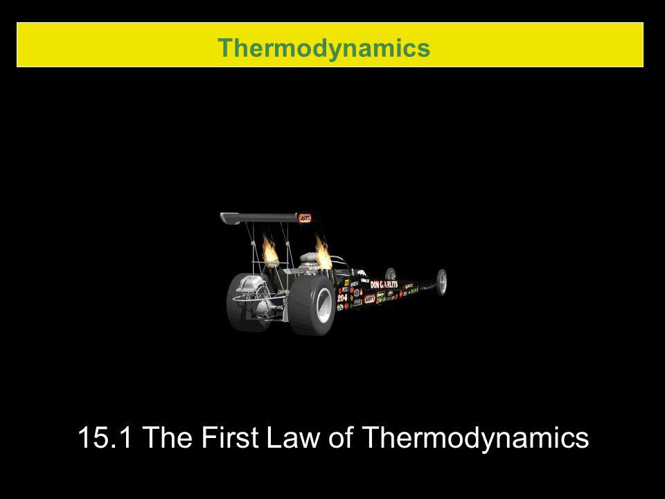 15.1 The First Law of Thermodynamics
