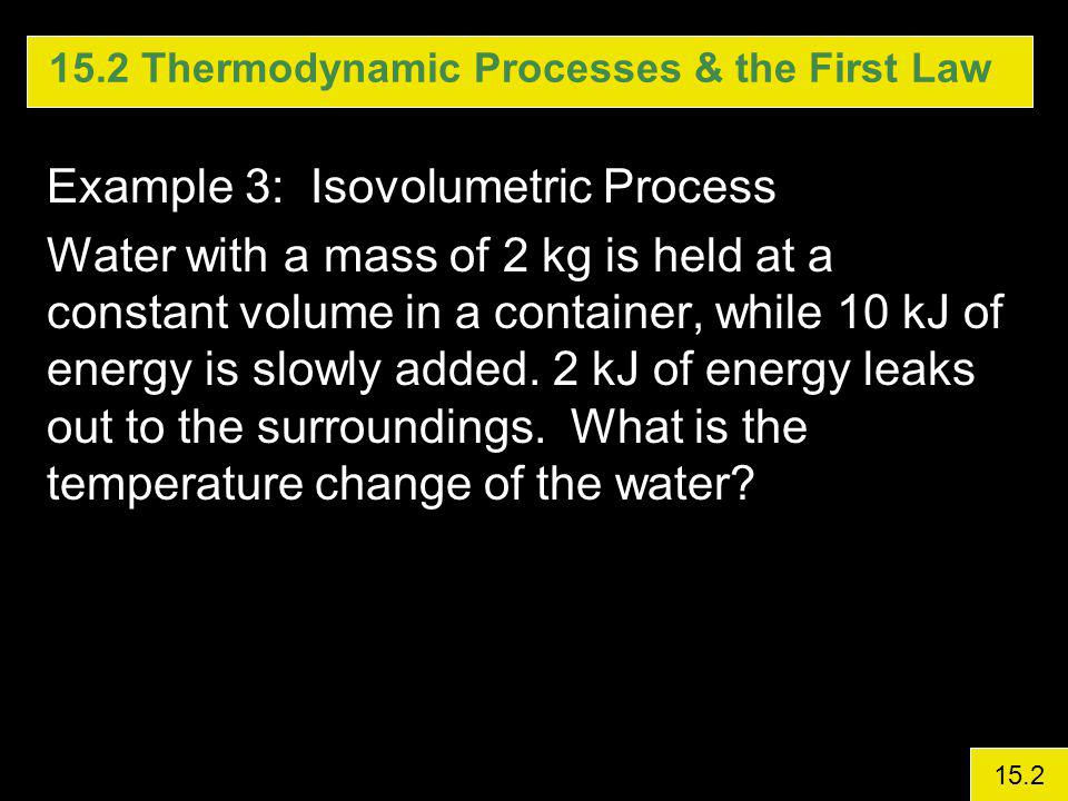 15.2 Thermodynamic Processes & the First Law