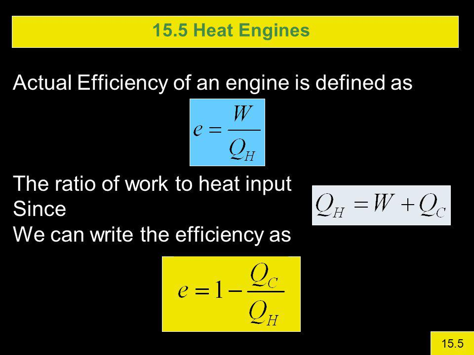 Actual Efficiency of an engine is defined as
