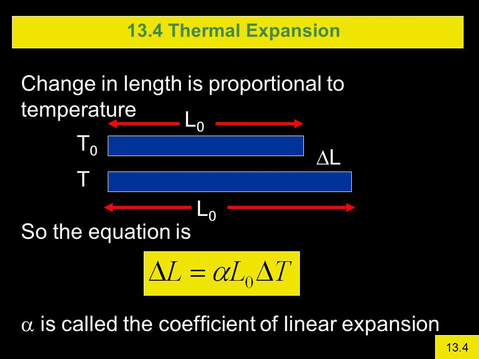 Change in length is proportional to temperature