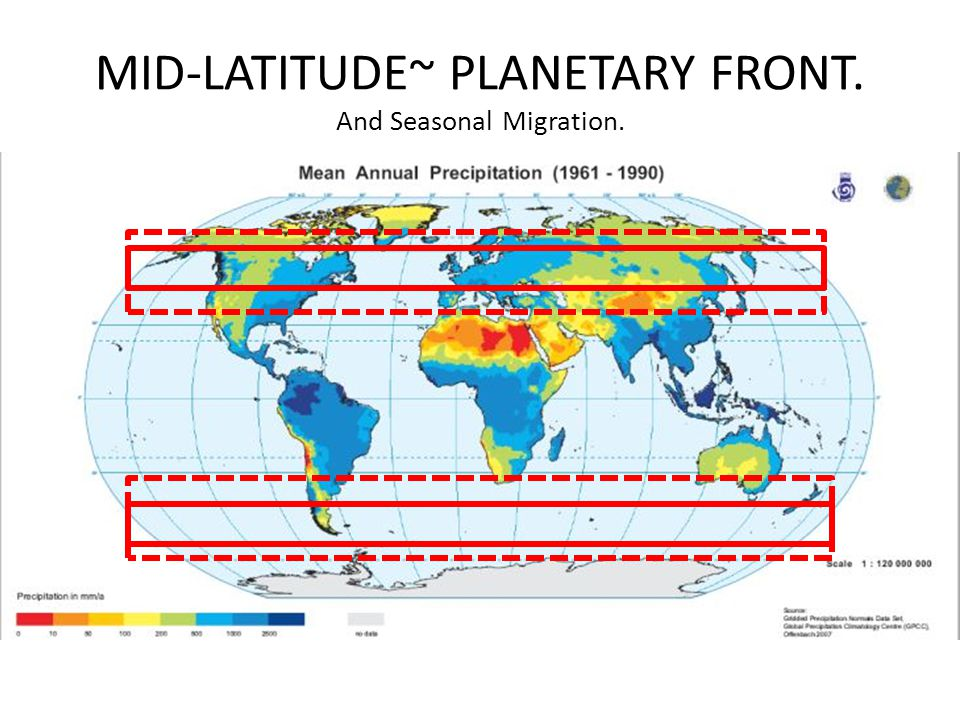 MID-LATITUDE~ PLANETARY FRONT. And Seasonal Migration.
