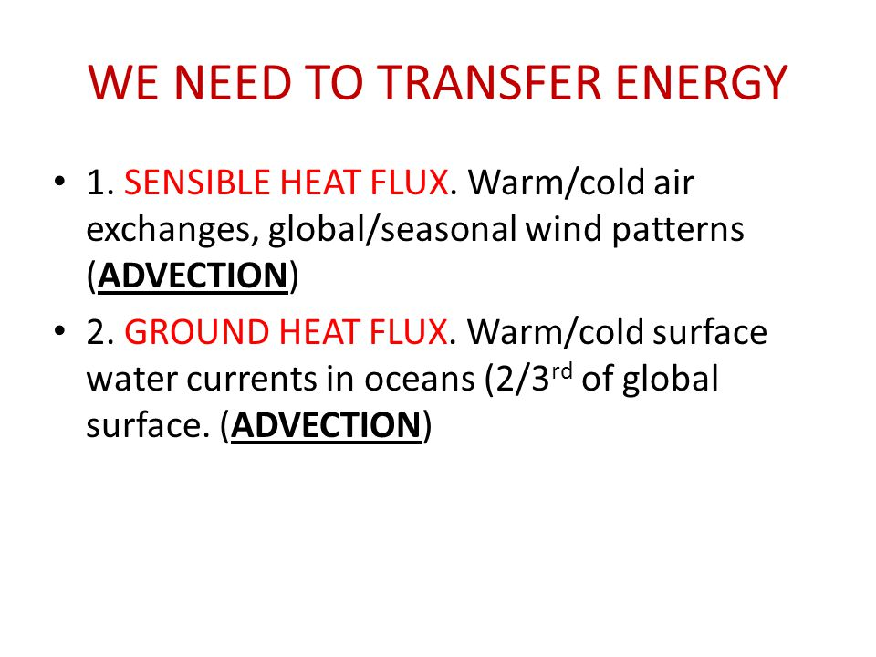 WE NEED TO TRANSFER ENERGY