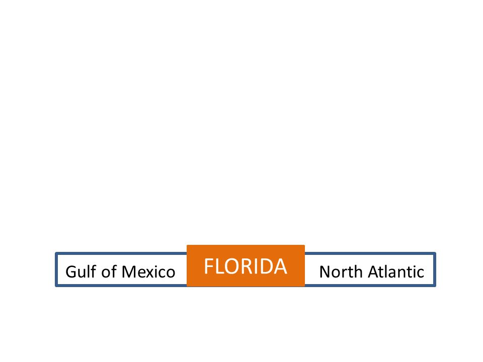 FLORIDA Gulf of Mexico North Atlantic