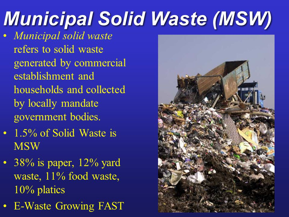 Municipal Solid Waste (MSW)