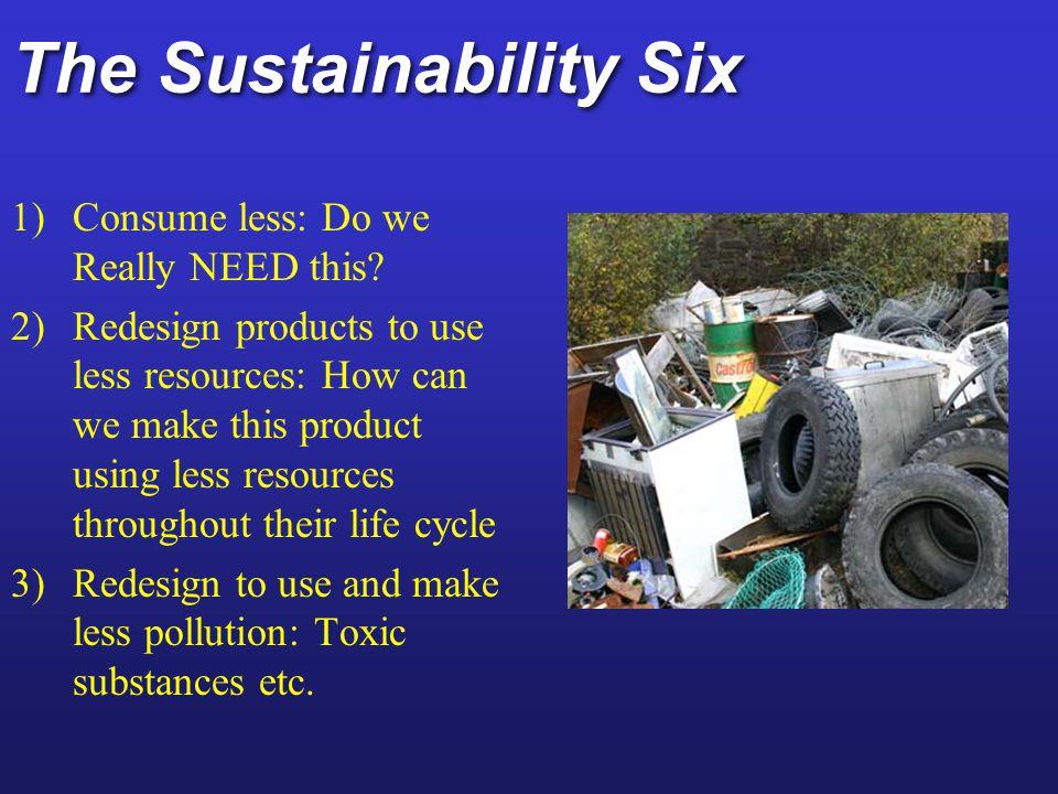 The Sustainability Six