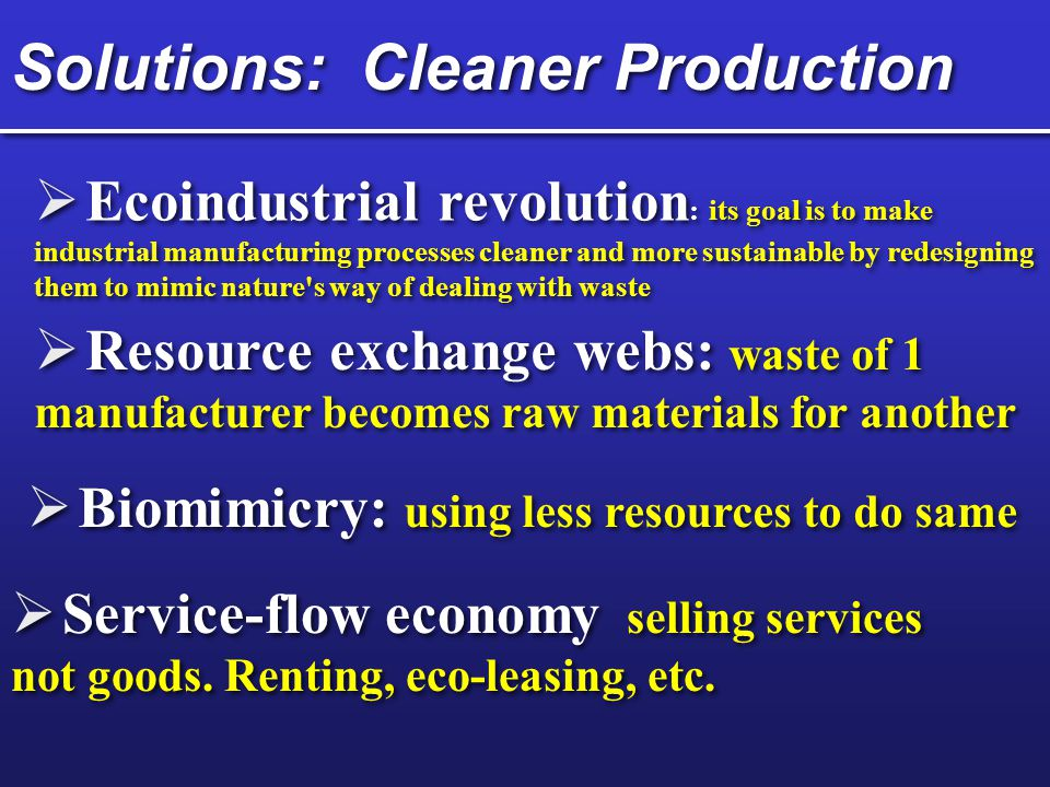 Solutions: Cleaner Production