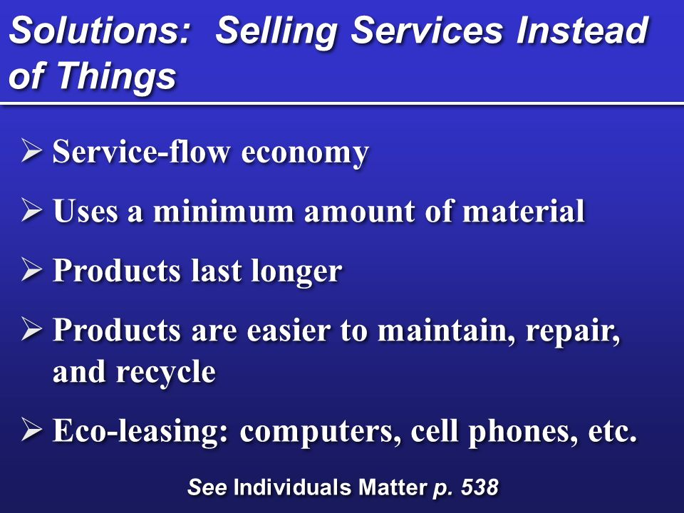 Solutions: Selling Services Instead of Things