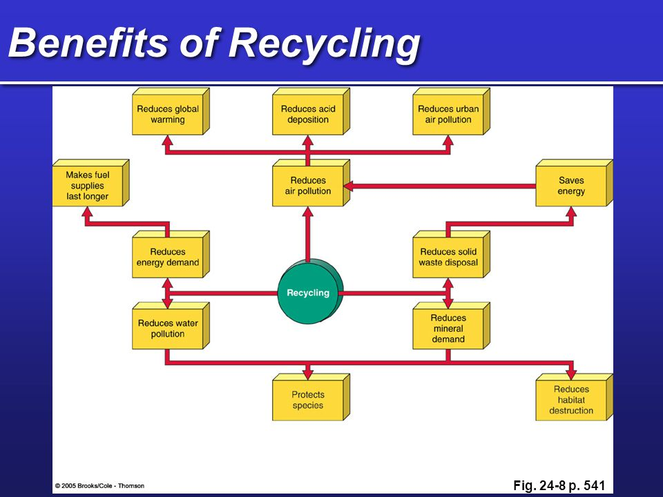 Benefits of Recycling Fig. 24-8 p. 541