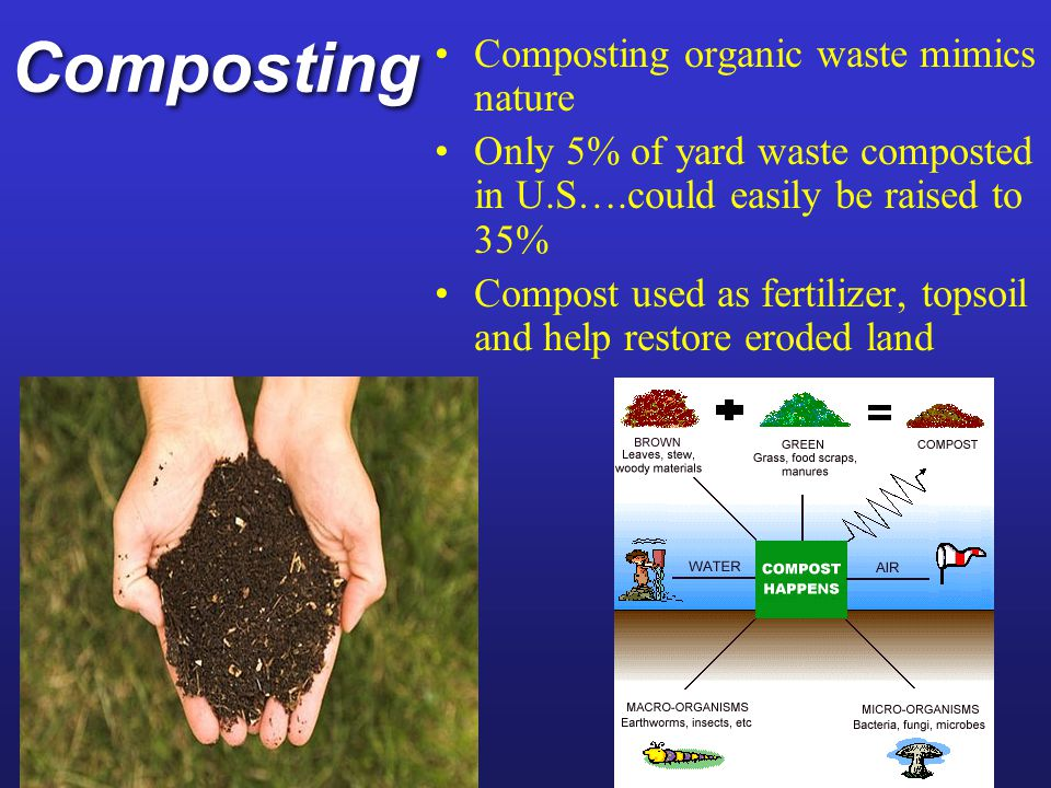 Composting Composting organic waste mimics nature
