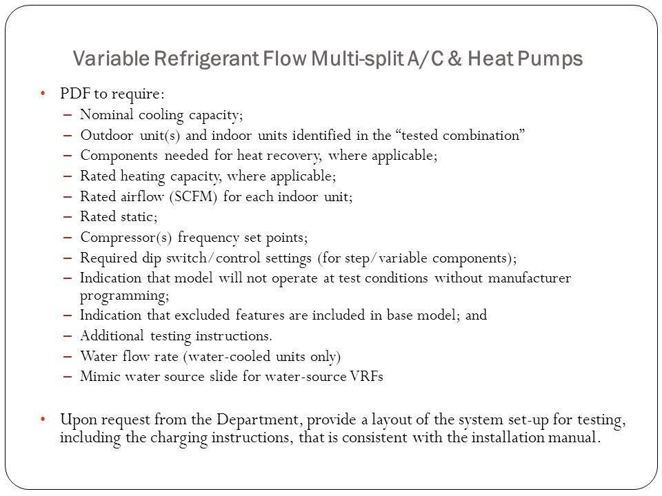 Variable Refrigerant Flow Multi-split A/C & Heat Pumps