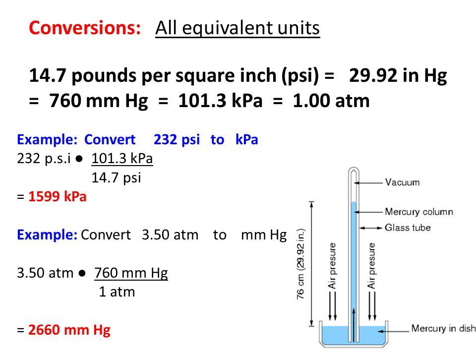 Conversions: All equivalent units 14