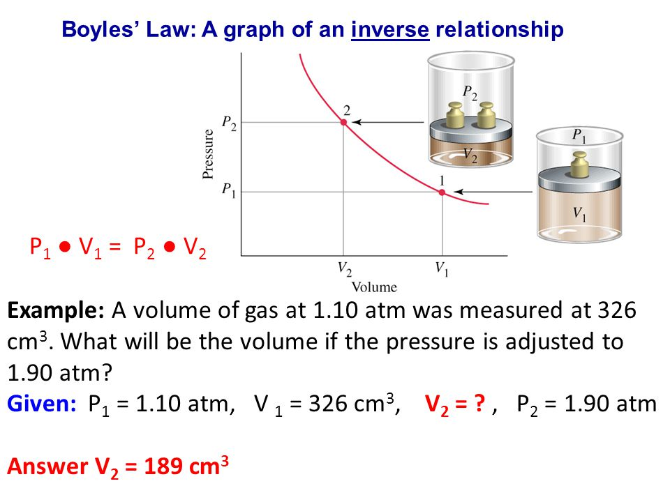 Boyles' Law: A graph of an inverse relationship
