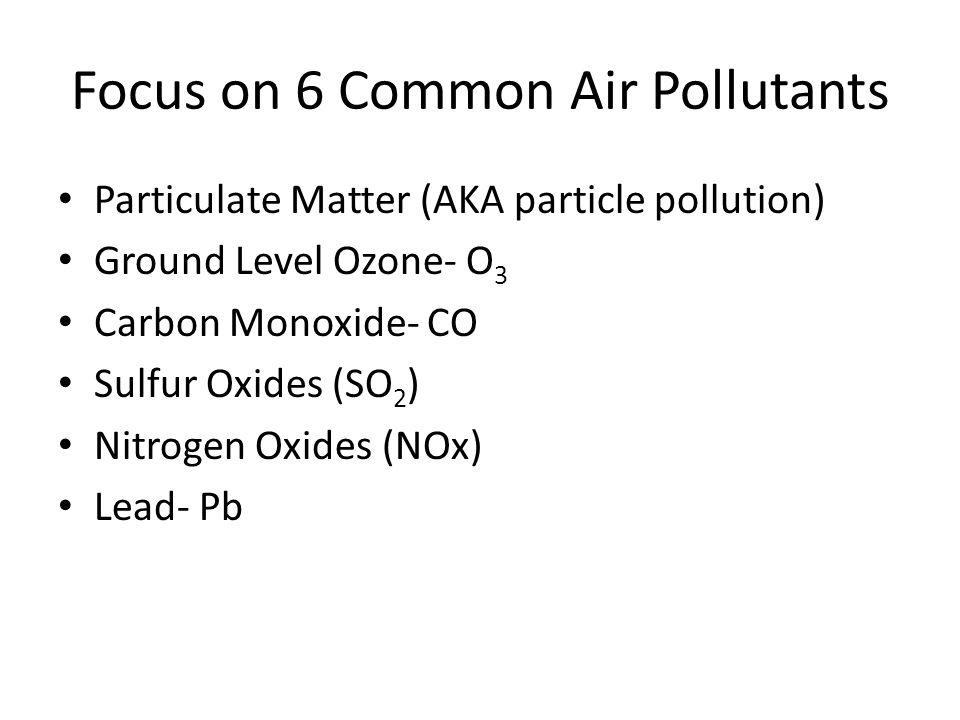 Focus on 6 Common Air Pollutants