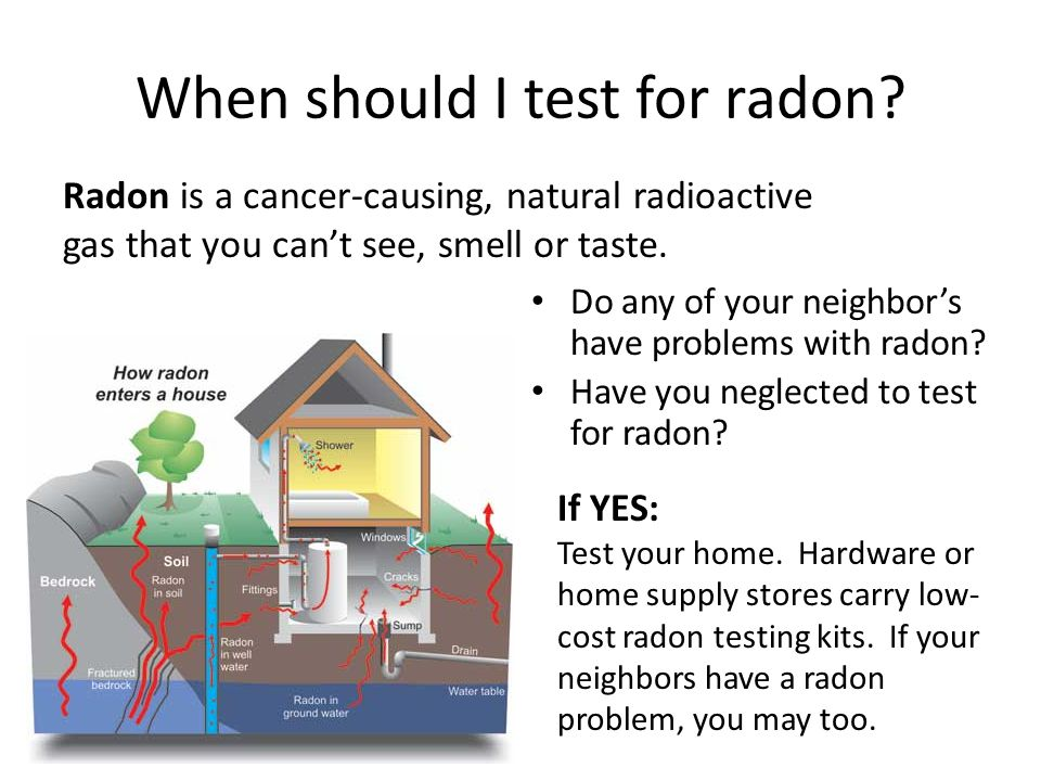 When should I test for radon
