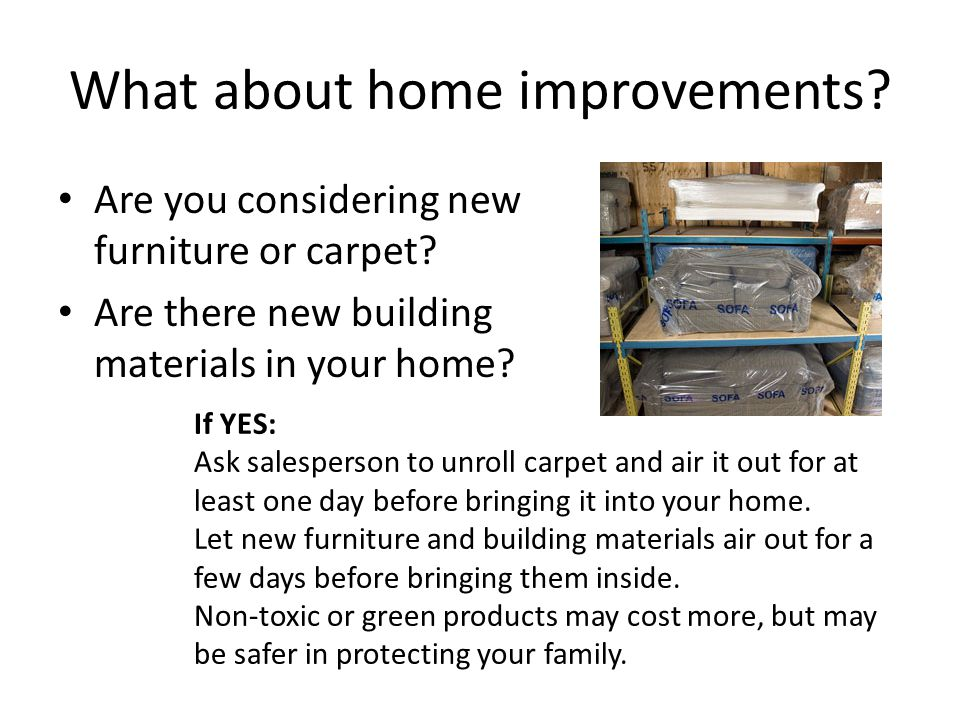 What about home improvements