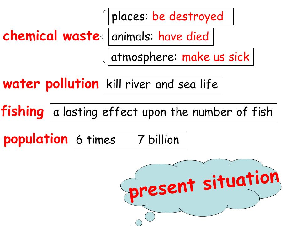 present situation chemical waste water pollution fishing population