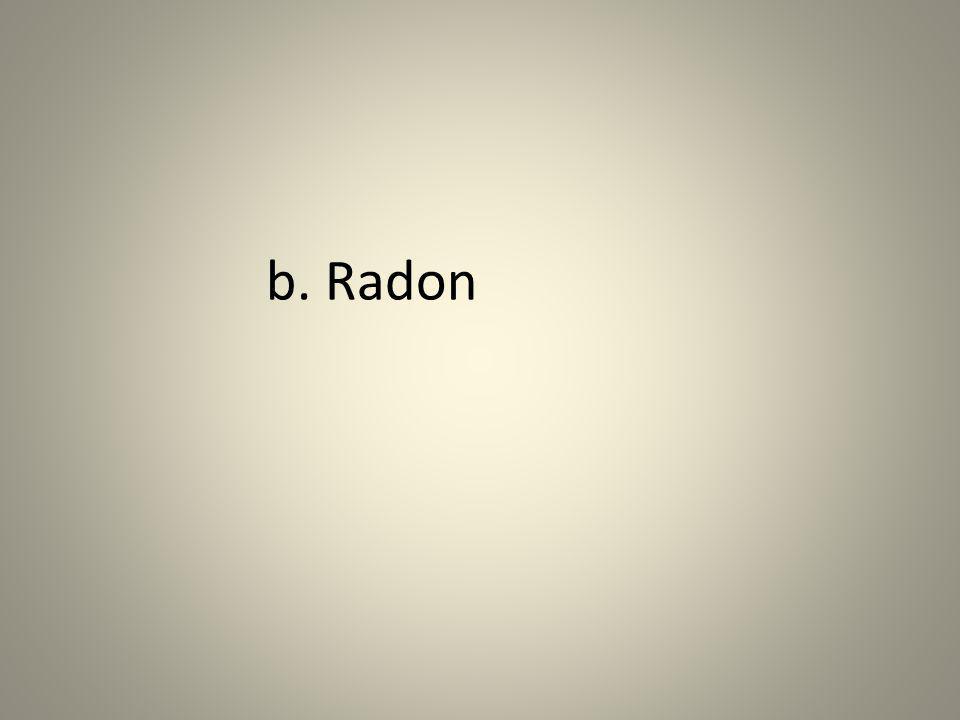 b. Radon