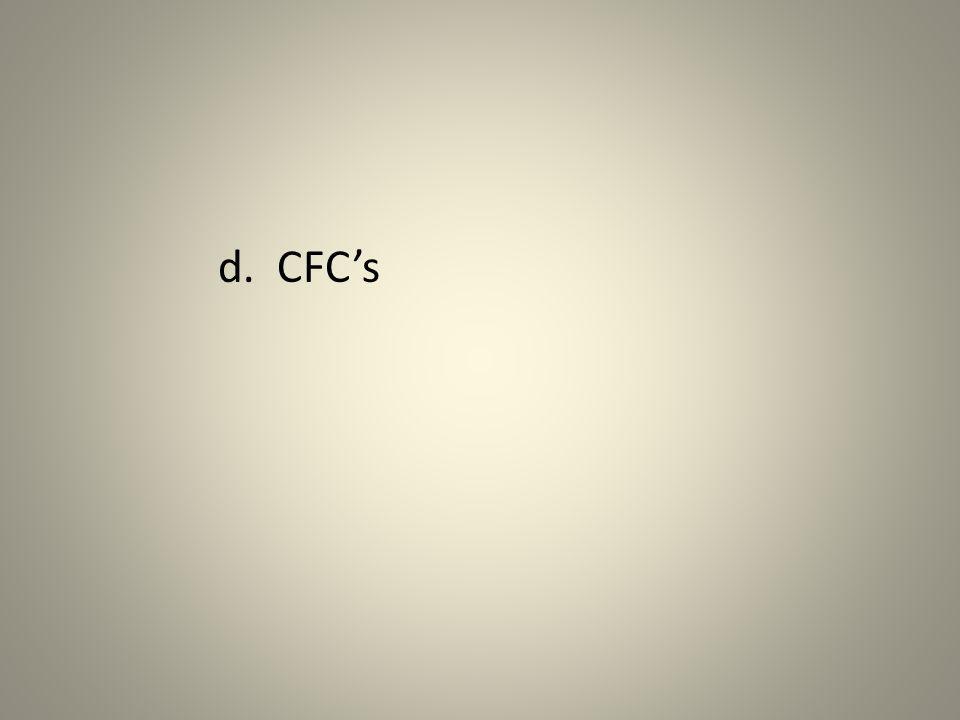 d. CFC's