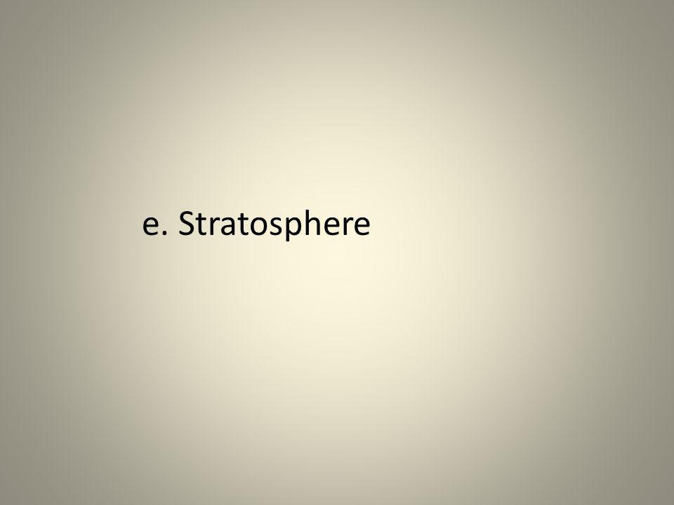 e. Stratosphere