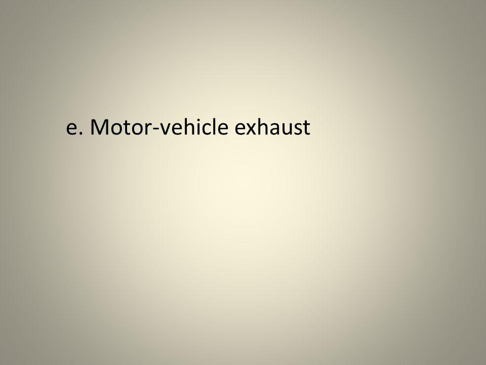 e. Motor-vehicle exhaust