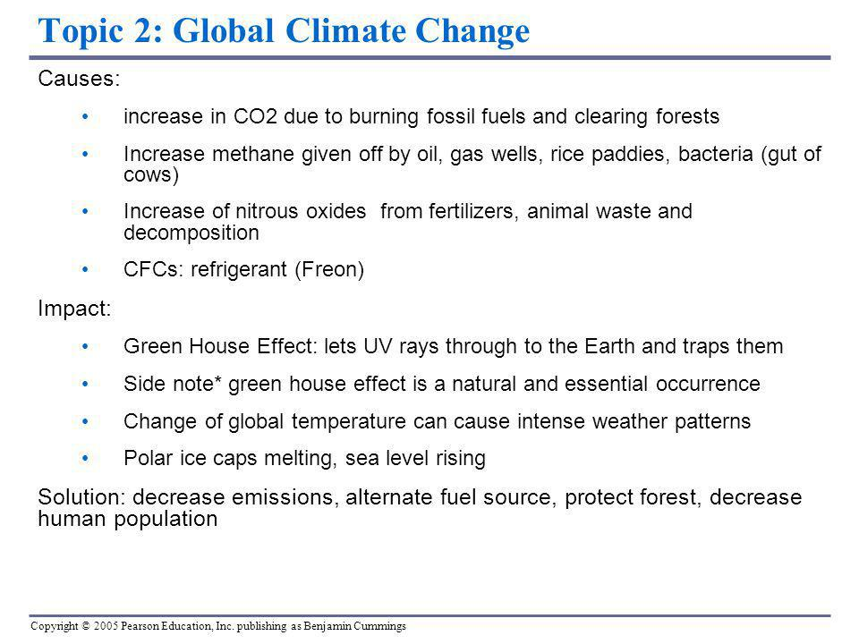 Topic 2: Global Climate Change