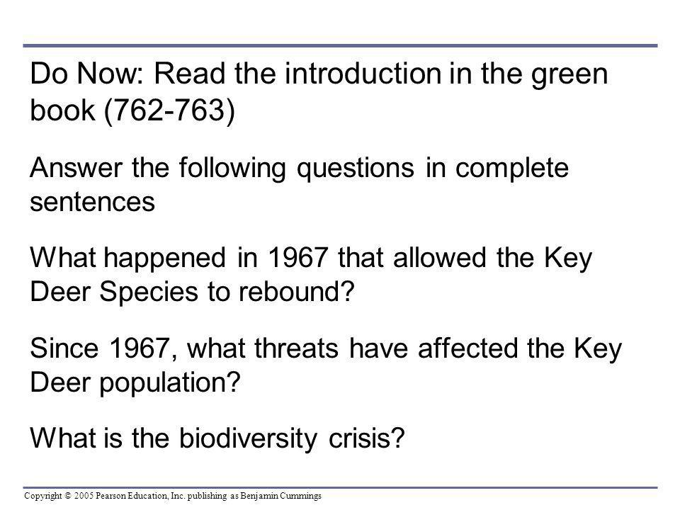 Do Now: Read the introduction in the green book (762-763)
