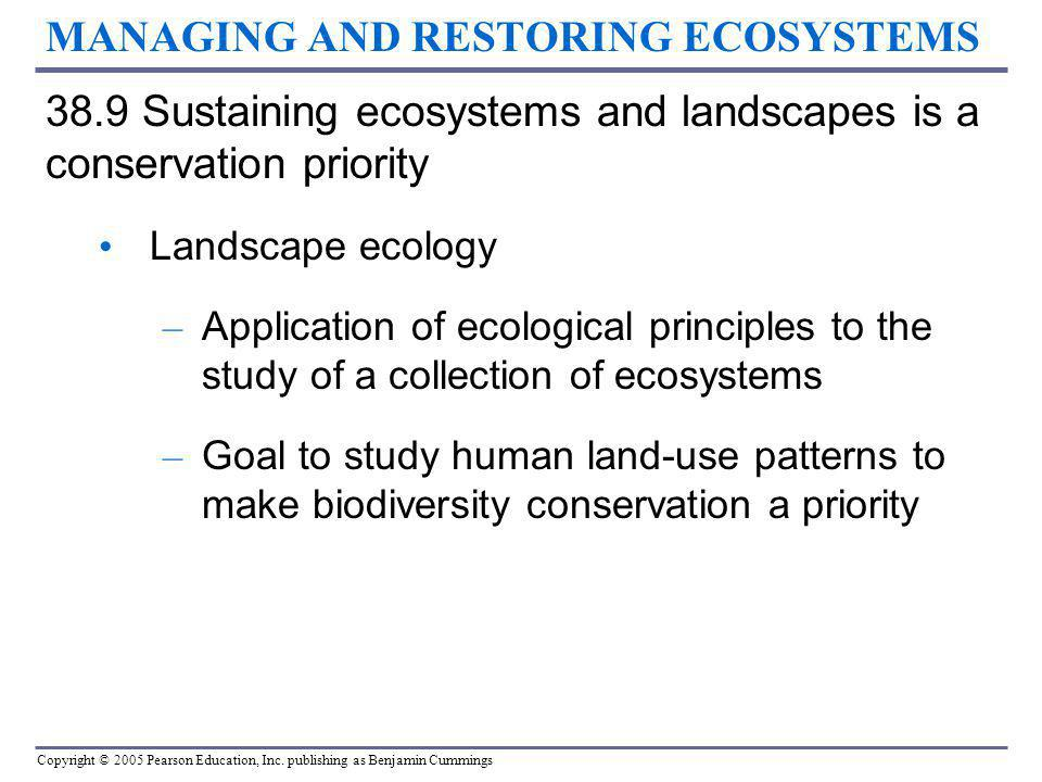 MANAGING AND RESTORING ECOSYSTEMS