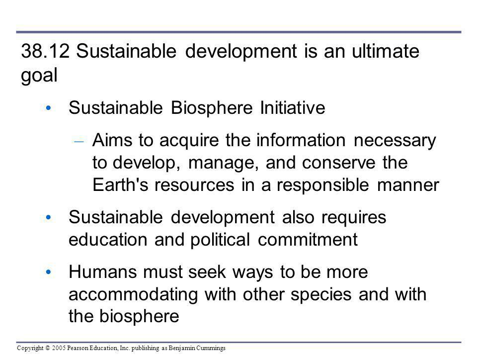 38.12 Sustainable development is an ultimate goal