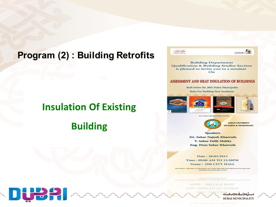 Program (2) : Building Retrofits Insulation Of Existing