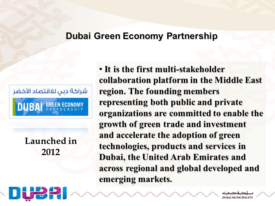Dubai Green Economy Partnership