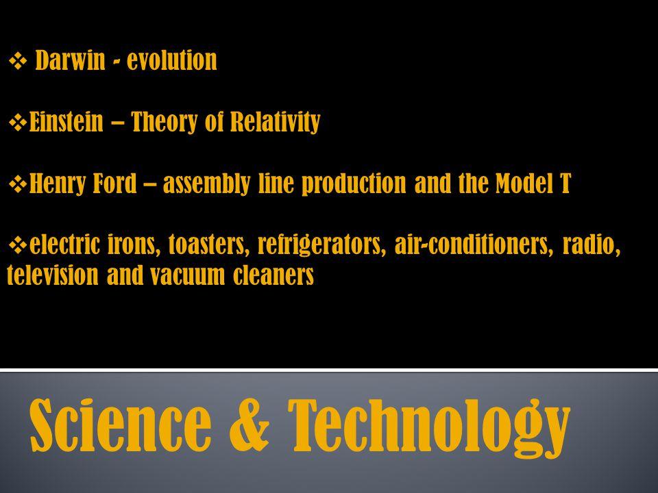 Science & Technology Darwin - evolution