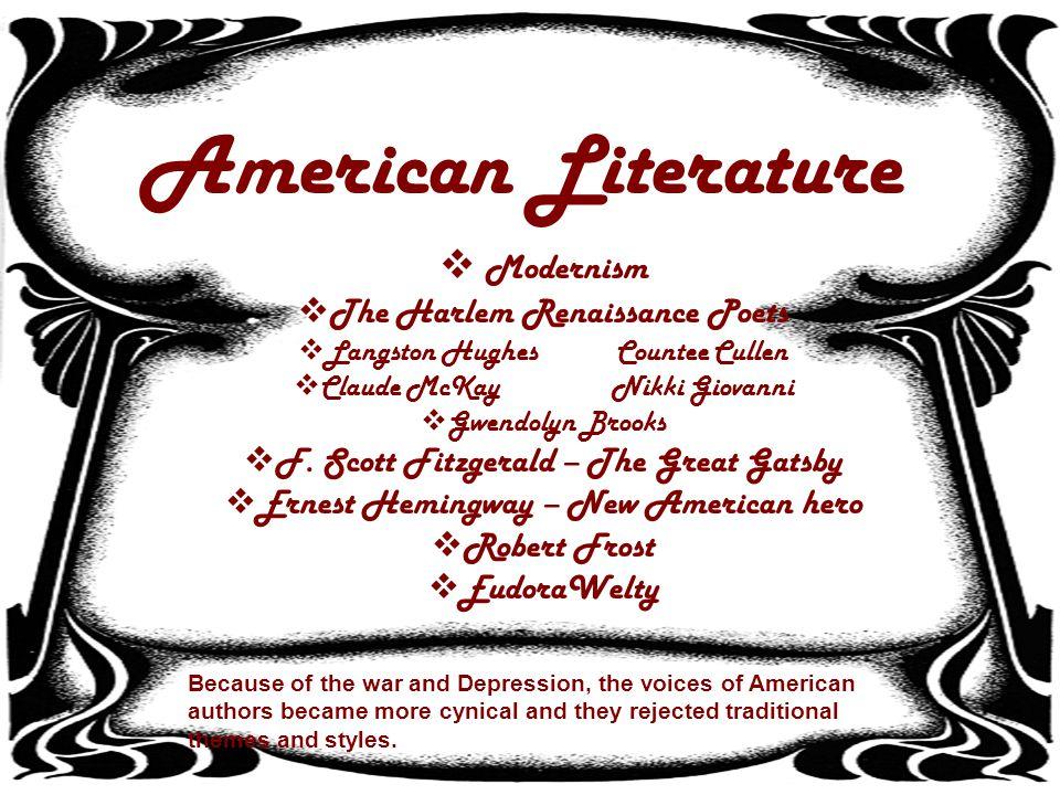 American Literature Modernism The Harlem Renaissance Poets