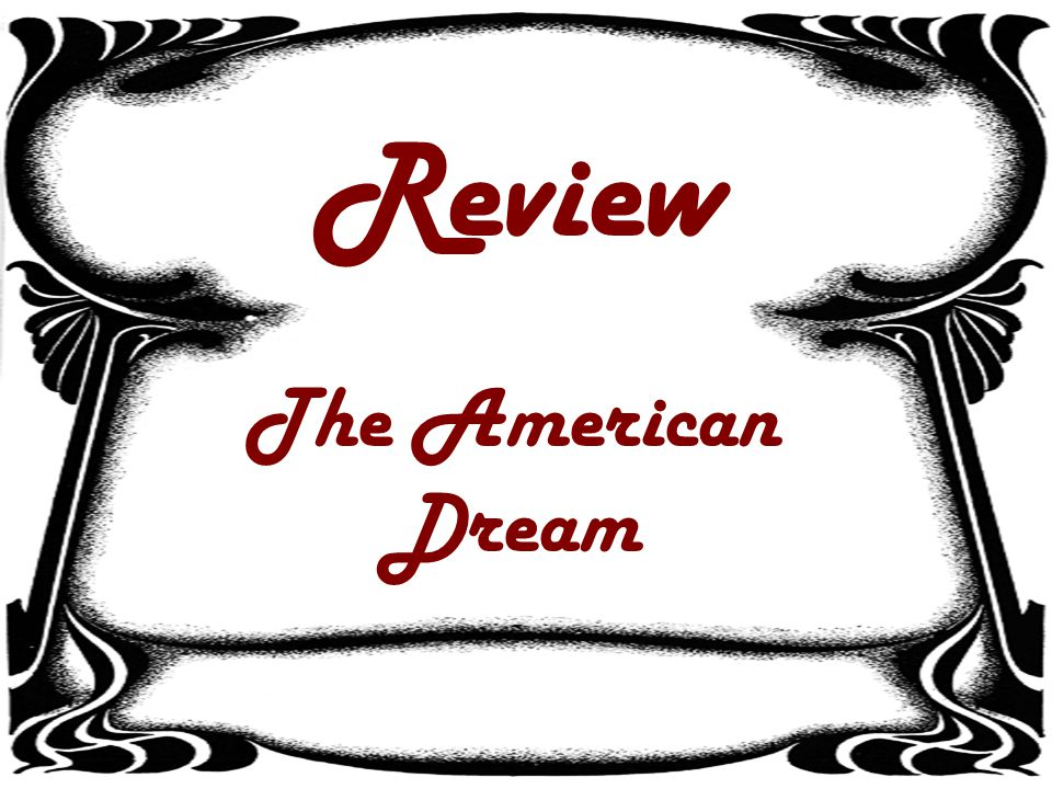 Review The American Dream