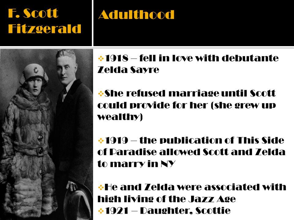 F. Scott Fitzgerald Adulthood